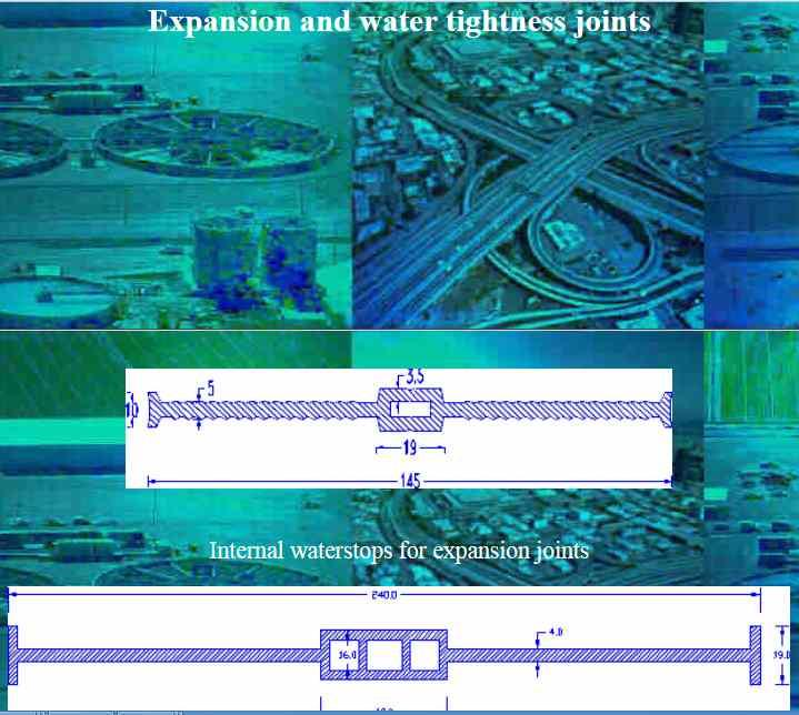 Expansion and water tightness joints