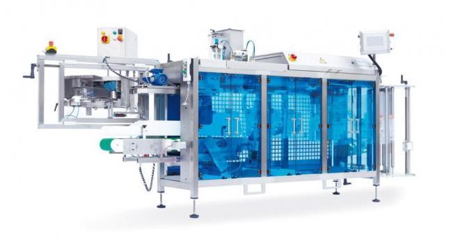 Pour l'emballage de produit délicats (avec soudure vertical et système de coupe type 5; système kwik lok ou système newtec de fermeture par bande adhésive TM 30)