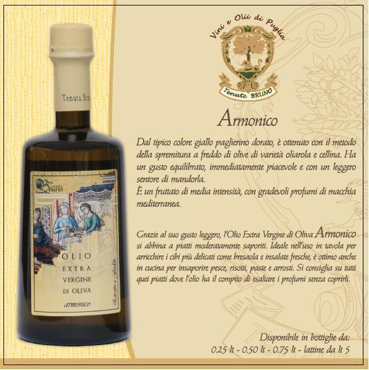 Harmonischer extra vergine  Olivenöl