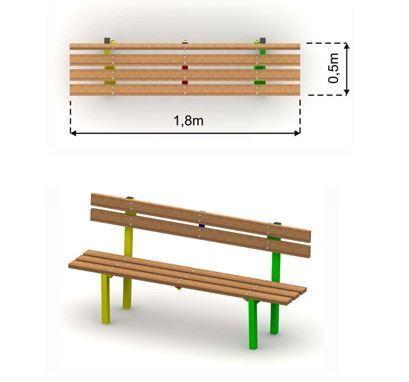 Bench with backrest Expert 470 EL