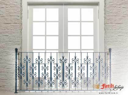 An example of wrought iron used at a balcony
