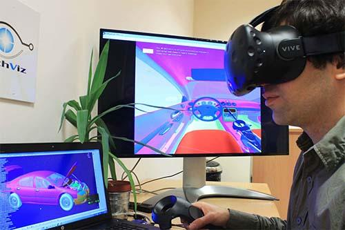 Catia V5 instantly displayed on HTC Vive with TechViz VR Software