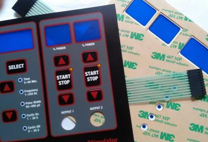 Tactile membrane switch with backlight LEDs | VIT