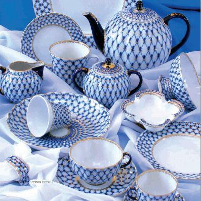 "The pattern ""Cobalt net"" is the centrepieceof the Imperial Porcelain product range, and for many years it has been the trademark design of the manufactory."