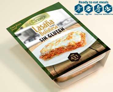 Lasagna Bolognesse; gluten free, Sans gluten; Sin Gluten