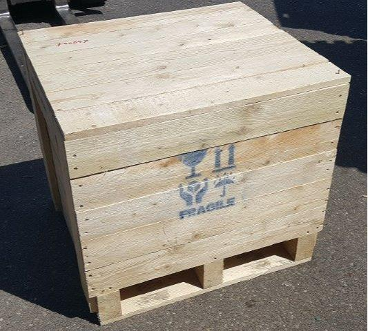 Wooden transport boxes