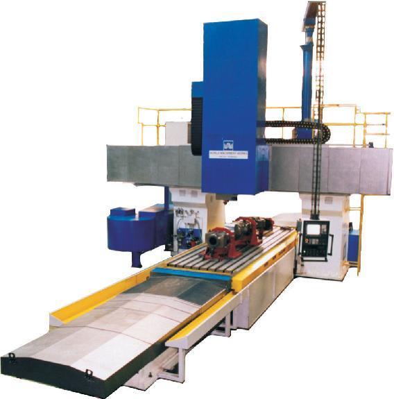 Bridge type milling machines