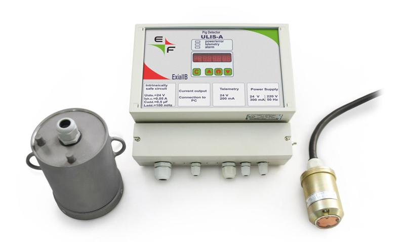 Energoflow ULIS-A is a non-intrusive ultrasonic pig passage indicator designed for reliable detection of all kinds of pigs used for pigging of filled liquid pipelines.