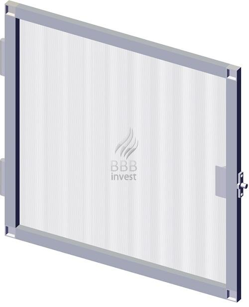 B'SMART Fixed or Swing Insects Screens (hinges) are made out of extruded aluminium profiles (17mm x 25mm), electrostatically painted, assembled at an angle of 90°.