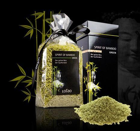 Grüner Bambus Reis, Green Bamboo Rice