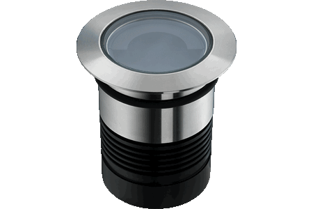 Caliber 80 is an extremely efficient compact in-ground drive-over LED up-light, designed for optical excellence and engineered for complete resilience.