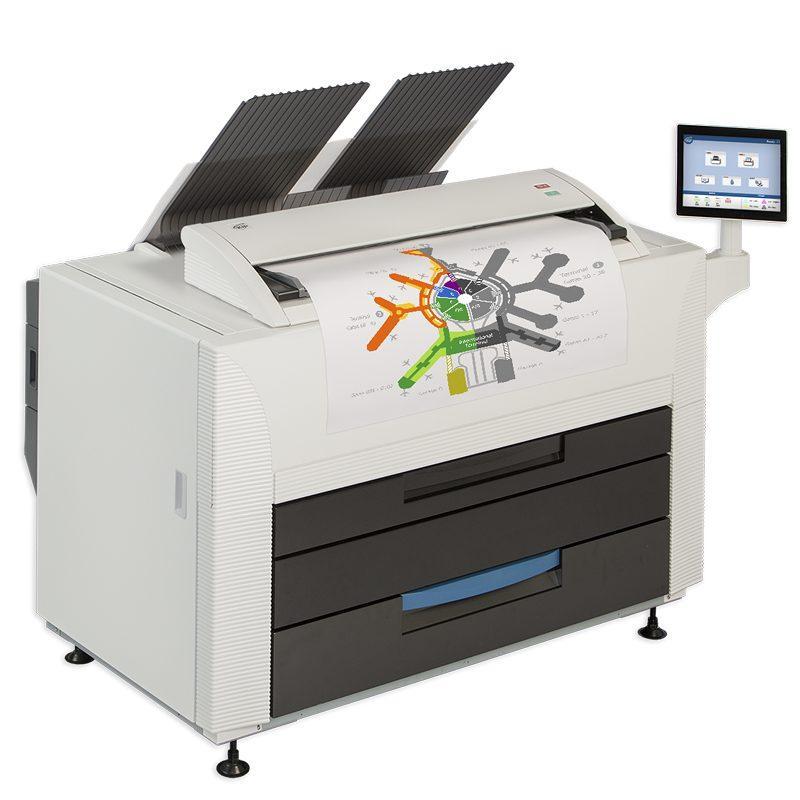 tonerbasierter Farbdrucker, 8 A1 pro Minute, Druckbreite 914 mm, bis zu 268 qm pro Stunde, UV-stabil, wasserfest, Plakatdruck und technische Zeichnungen in perfekter Qualität, schnell,kosteneffizient