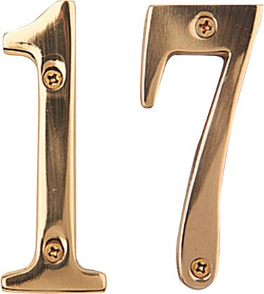 BRASS NUMBERS AND LETTERS