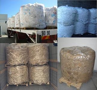 Bales of different waste - Bale de déchets issus d'un Valpak