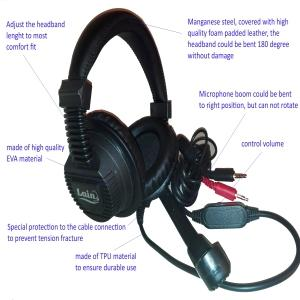 Professional Headset with Microphone H2010 - Cuffia Professionale con Microfono H2010