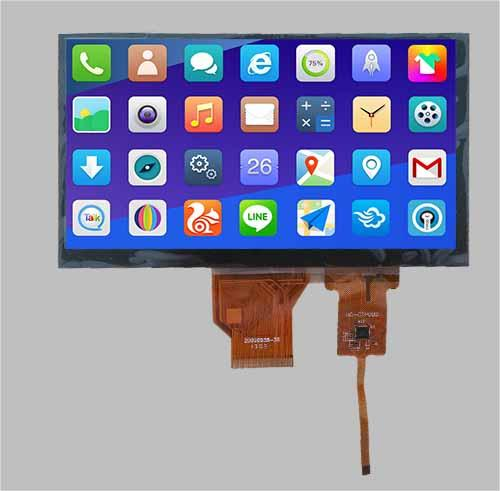 """7"""" TFT LCD PCAP touch screen"""