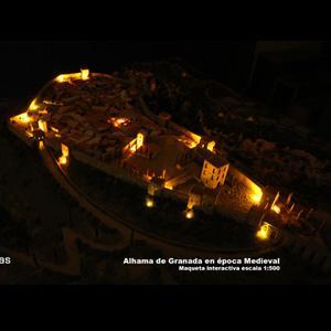 Reproducción de la ciudad medieval de la Alhama Medieval. Escala 1:500. Automatización de iluminación mediante sensores y arduino. www.maquetasaxfito.com