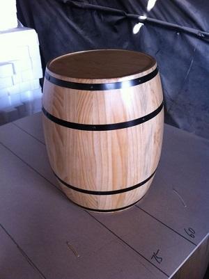 decorate barrel,pine dispaly barrel