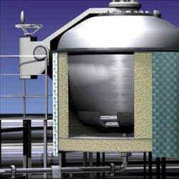 Wärmeleitzement für d. Behälterbeheizung