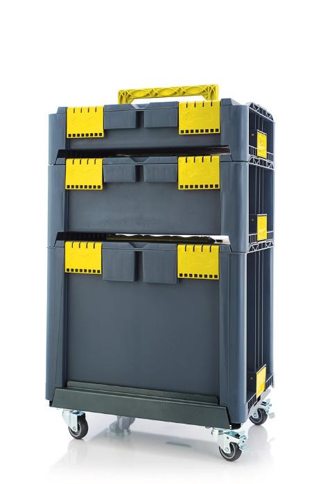 STACKABLE PLASTIC TOOLBOXES
