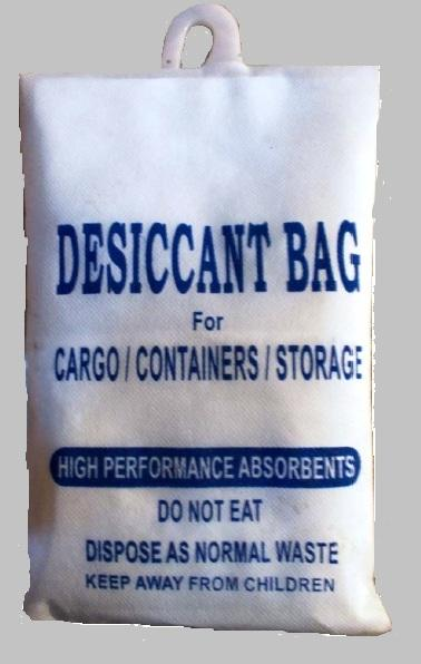 Which is used in Container to absorb the moisture from the air