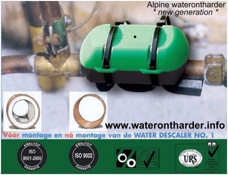Waterontharder - zonder zout - zonder stroom