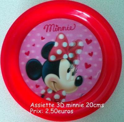 Assiette 3D Minnie