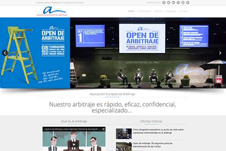 Web Asociación Europea de arbitraje