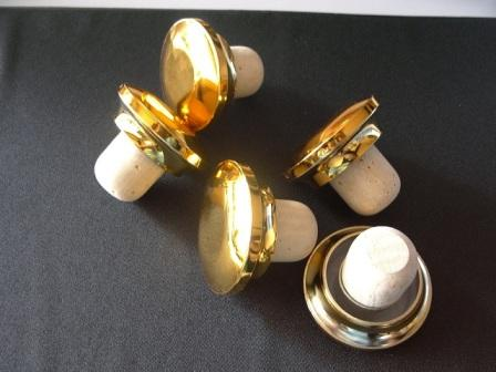 Golden Capsules with cork