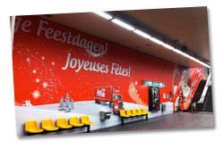 Décoration mur de station de métro