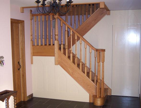 Wooden staircase handcrafted made to order here in our workshop in Bury St Edmunds.