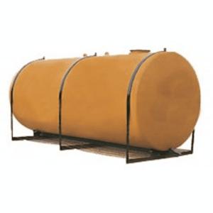 Réservoir de stockage cylindrique pour hydrocarbures. Fabrication en acier double paroi. Volume minimum : 1500 L