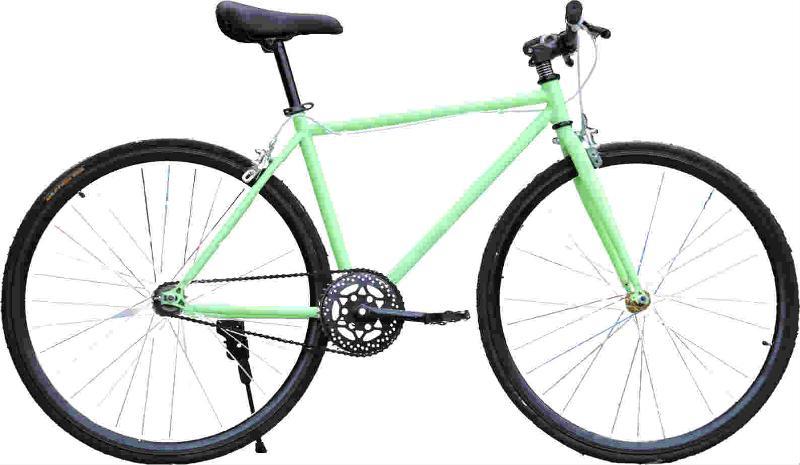 Fixed gear bike / Yellow-black