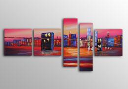 100% hand painted Cityscapes paintings Framed wall art www.designartdecor.com