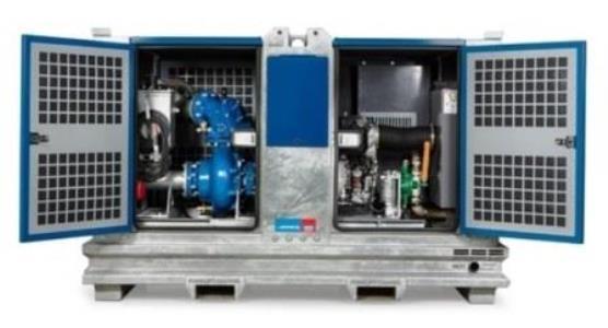 Kabarda pumps SIP 100-4 opened