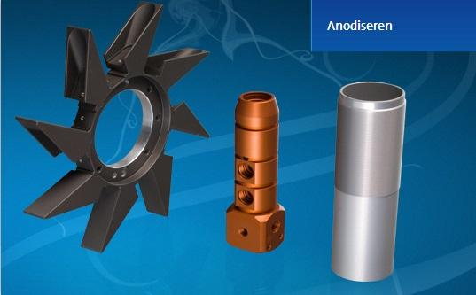 Anodizing is an electrolytic process used to provide Aluminum parts with a thick oxide layer. This generated oxide layer is hard, porous and wear resistant.