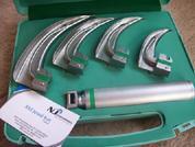 High Quality Fiber optic Laryngoscopes set having Macintosh blade 1, 2, 3, 4 + Standard Laryngoscopes handle. All Kinds of McCoy Blades, Conventional Laryngoscopes, Disposable laryngoscopes, Miller