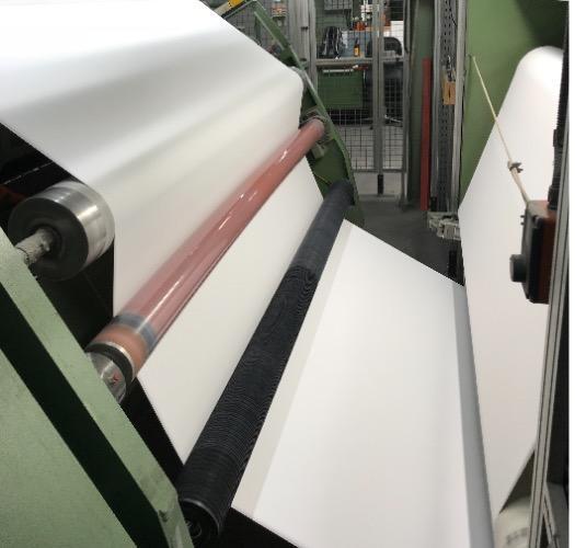 ESR spreader roller paper production