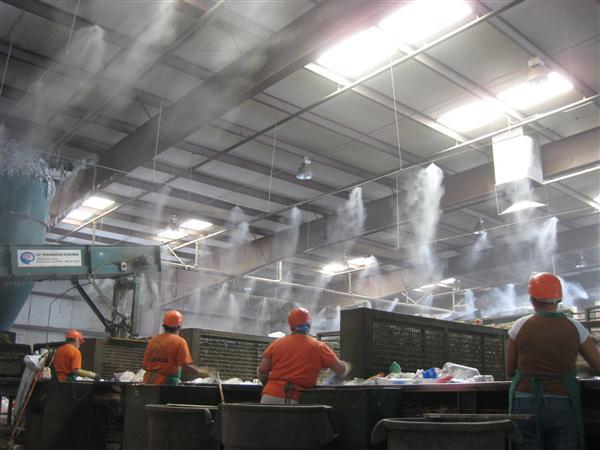 система за охлаждане с водна мъгла за индустрията 40 бара