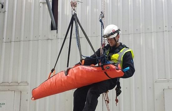 Rope rescue teams providing emergency rescue and safety cover for other personnel working at height or within confined spaces.