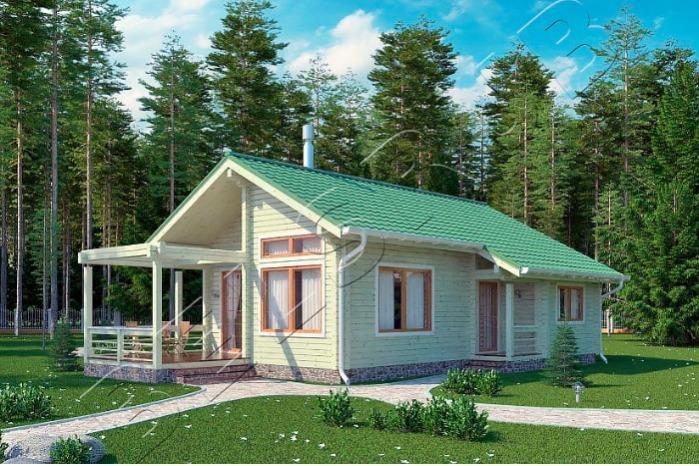 Blockhaus-Forst mit Sauna