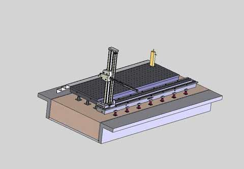 TRIDAX - Machine CN a socle sur banc (plan)