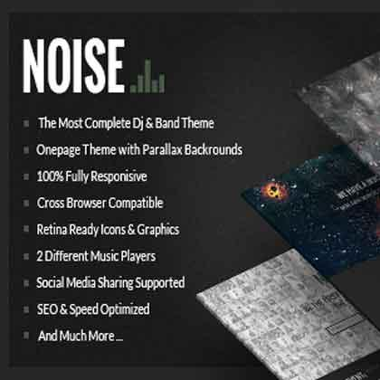 Noise WordPress Premium Theme best for music band website or blogs.design your music site with customize layouts, gallery etc.