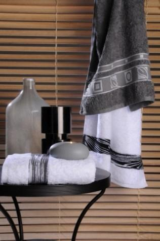 Jacquard Towels, 100% cotton.