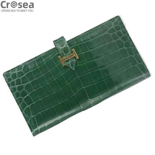 Fashion design genuine crocodile leather clutch wallet