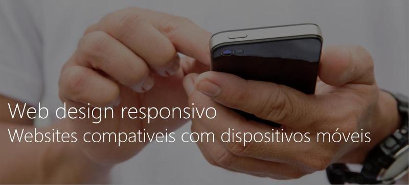 Web design responsivo websites compativeis dispositivos móveis