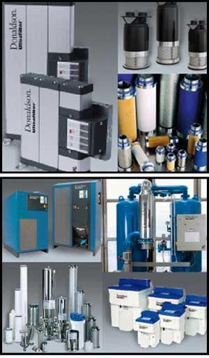 Filtración de aire comprimido y gases industriales. Filtros de procesos Donaldson Ultrafilter