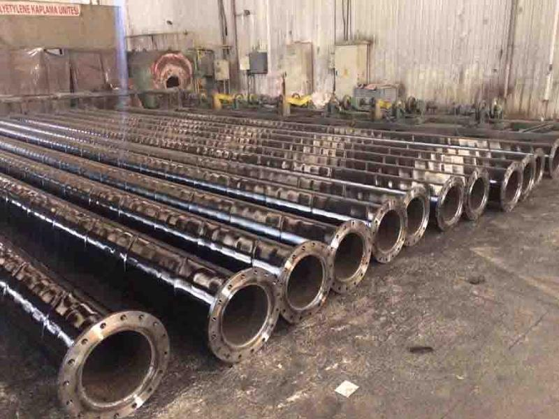 coated & Flanged  spirall welded pipes