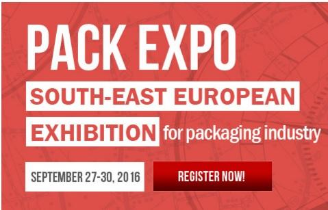 A leading industry that will highly benefit from this investment opportunities, packaging finds its outmost form at PACK EXPO 2016 – South East European Trade Fair for Packaging Industry.