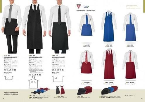 abbigliamento professionale per hotel, ristoranti e bar.